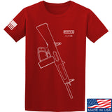 Fitty% Shotgun - AA12 T-Shirt T-Shirts Small / Red by Ballistic Ink - Made in America USA