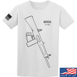 Fitty% Shotgun - AA12 T-Shirt T-Shirts Small / White by Ballistic Ink - Made in America USA