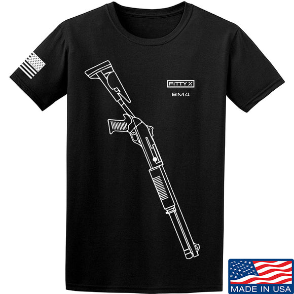 Fitty% Shotgun - BM4 T-Shirt T-Shirts Small / Black by Ballistic Ink - Made in America USA