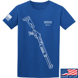 Fitty% Shotgun - BM4 T-Shirt T-Shirts Small / Blue by Ballistic Ink - Made in America USA