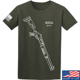 Fitty% Shotgun - BM4 T-Shirt T-Shirts Small / Military Green by Ballistic Ink - Made in America USA