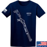 Fitty% Shotgun - BM4 T-Shirt T-Shirts Small / Navy by Ballistic Ink - Made in America USA