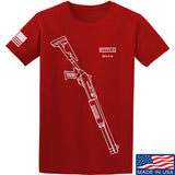 Fitty% Shotgun - BM4 T-Shirt T-Shirts Small / Red by Ballistic Ink - Made in America USA