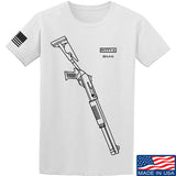 Fitty% Shotgun - BM4 T-Shirt T-Shirts Small / White by Ballistic Ink - Made in America USA