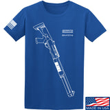 Fitty% Shotgun - MB1014 T-Shirt T-Shirts Small / Blue by Ballistic Ink - Made in America USA