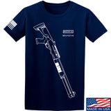 Fitty% Shotgun - MB1014 T-Shirt T-Shirts Small / Navy by Ballistic Ink - Made in America USA