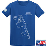 Fitty% Shotgun - Striker12 T-Shirt T-Shirts Small / Blue by Ballistic Ink - Made in America USA