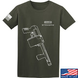 Fitty% Shotgun - Striker12 T-Shirt T-Shirts Small / Military Green by Ballistic Ink - Made in America USA