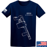 Fitty% Shotgun - Striker12 T-Shirt T-Shirts Small / Navy by Ballistic Ink - Made in America USA