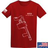 Fitty% Shotgun - Striker12 T-Shirt T-Shirts Small / Red by Ballistic Ink - Made in America USA