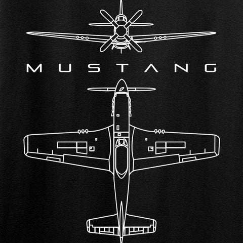 WWII Planes - Mustang T-Shirt