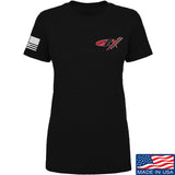 Gould Brothers Ladies Gould Brothers Chest Logo T-Shirt T-Shirts SMALL / Black by Ballistic Ink - Made in America USA