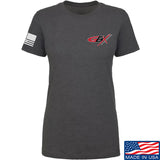 Gould Brothers Ladies Gould Brothers Chest Logo T-Shirt T-Shirts SMALL / Charcoal by Ballistic Ink - Made in America USA