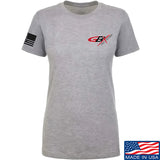 Gould Brothers Ladies Gould Brothers Chest Logo T-Shirt T-Shirts SMALL / Light Grey by Ballistic Ink - Made in America USA