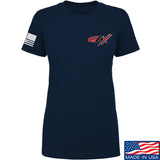 Gould Brothers Ladies Gould Brothers Chest Logo T-Shirt T-Shirts SMALL / Navy by Ballistic Ink - Made in America USA
