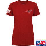 Gould Brothers Ladies Gould Brothers Chest Logo T-Shirt T-Shirts SMALL / Red by Ballistic Ink - Made in America USA
