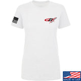 Gould Brothers Ladies Gould Brothers Chest Logo T-Shirt T-Shirts SMALL / White by Ballistic Ink - Made in America USA