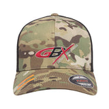 Gould Brothers Gould Brothers Logo Flexfit® Multicam® Trucker Mesh Cap Headwear [variant_title] by Ballistic Ink - Made in America USA