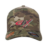 Gould Brothers Gould Brothers Logo Flexfit® Multicam® Trucker Cap Headwear Multicam S/M by Ballistic Ink - Made in America USA