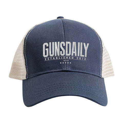 Gunsdaily Text Logo Trucker Snapback Cap