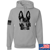 IV8888 War Dog Hoodie Hoodies Small / Light Grey by Ballistic Ink - Made in America USA