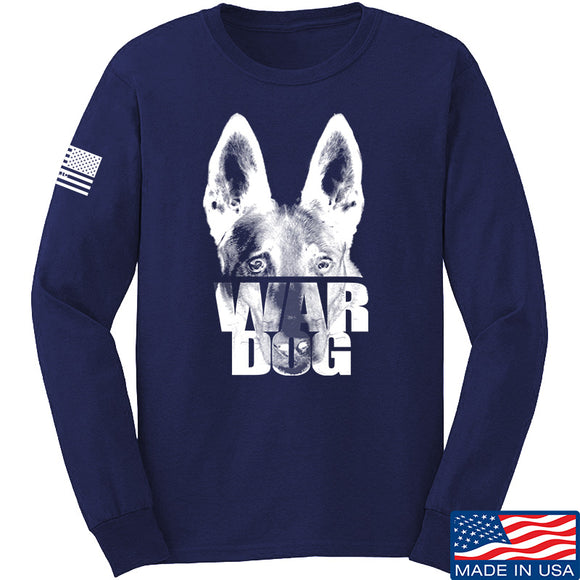 IV8888 War Dog Long Sleeve T-Shirt Long Sleeve Small / Navy by Ballistic Ink - Made in America USA