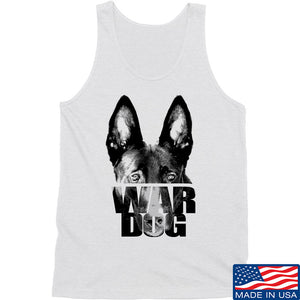 IV8888 War Dog Tank Tanks SMALL / White by Ballistic Ink - Made in America USA