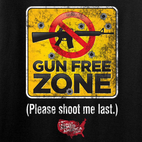 Gun Free Zone Long Sleeve T-Shirt