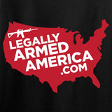 Ladies Legally Armed America Chest Logo T-Shirt