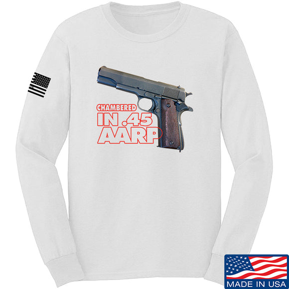 MAC M1911 .45 Long Sleeve T-Shirt Long Sleeve Small / White by Ballistic Ink - Made in America USA