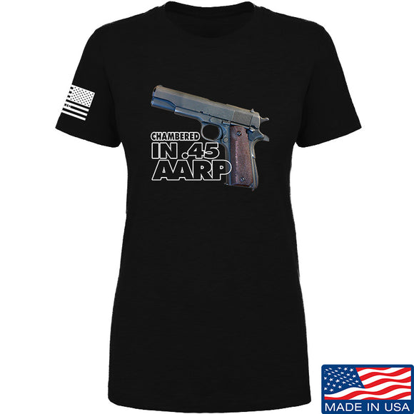 MAC Ladies M1911 .45 T-Shirt T-Shirts SMALL / Black by Ballistic Ink - Made in America USA