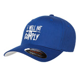 MAC I Will Not Comply Flexfit® Cap Headwear S/M / Blue by Ballistic Ink - Made in America USA