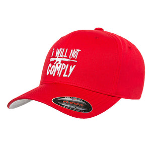 MAC I Will Not Comply Flexfit® Cap Headwear [variant_title] by Ballistic Ink - Made in America USA