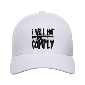 MAC I Will Not Comply Snapback Cap Headwear Heather Grey by Ballistic Ink - Made in America USA