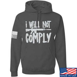 MAC I Will Not Comply Hoodie Hoodies Small / Black by Ballistic Ink - Made in America USA