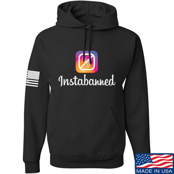 MAC Instabanned Hoodie Hoodies Small / Charcoal by Ballistic Ink - Made in America USA