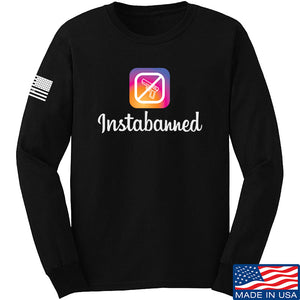 MAC Instabanned Long Sleeve T-Shirt Long Sleeve Small / Black by Ballistic Ink - Made in America USA