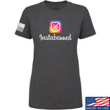 MAC Ladies Instabanned T-Shirt T-Shirts SMALL / Charcoal by Ballistic Ink - Made in America USA