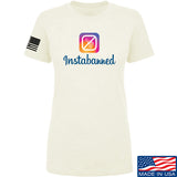 MAC Ladies Instabanned T-Shirt T-Shirts SMALL / Cream by Ballistic Ink - Made in America USA