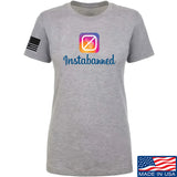 MAC Ladies Instabanned T-Shirt T-Shirts SMALL / Light Grey by Ballistic Ink - Made in America USA