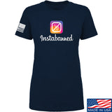 MAC Ladies Instabanned T-Shirt T-Shirts SMALL / Navy by Ballistic Ink - Made in America USA