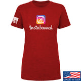 MAC Ladies Instabanned T-Shirt T-Shirts SMALL / Red by Ballistic Ink - Made in America USA