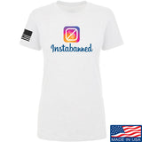 MAC Ladies Instabanned T-Shirt T-Shirts SMALL / White by Ballistic Ink - Made in America USA