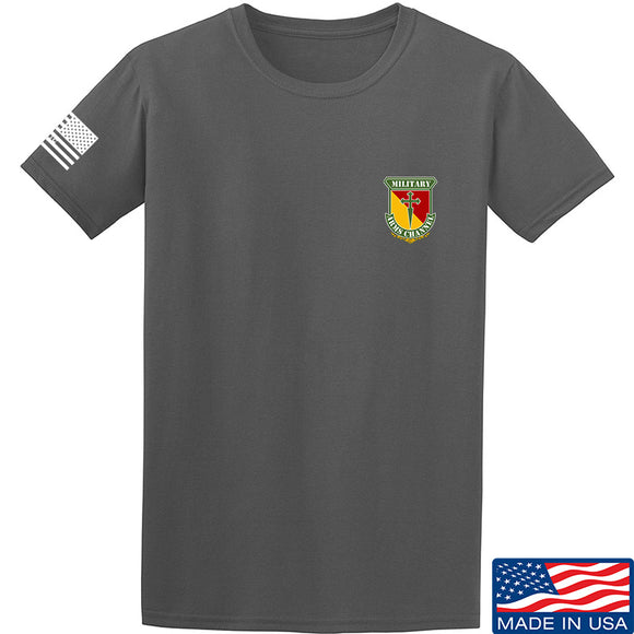 MAC MAC Military Arms Channel Chest Logo T-Shirt T-Shirts Small / Charcoal by Ballistic Ink - Made in America USA