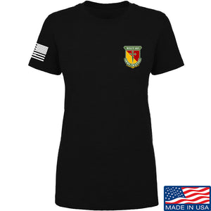 MAC Ladies MAC Military Arms Channel Chest Logo T-Shirt T-Shirts SMALL / Black by Ballistic Ink - Made in America USA