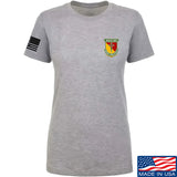 MAC Ladies MAC Military Arms Channel Chest Logo T-Shirt T-Shirts SMALL / Light Grey by Ballistic Ink - Made in America USA
