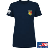 MAC Ladies MAC Military Arms Channel Chest Logo T-Shirt T-Shirts SMALL / Navy by Ballistic Ink - Made in America USA