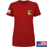 MAC Ladies MAC Military Arms Channel Chest Logo T-Shirt T-Shirts SMALL / Red by Ballistic Ink - Made in America USA