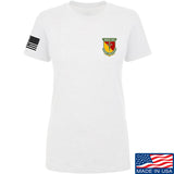 MAC Ladies MAC Military Arms Channel Chest Logo T-Shirt T-Shirts SMALL / White by Ballistic Ink - Made in America USA