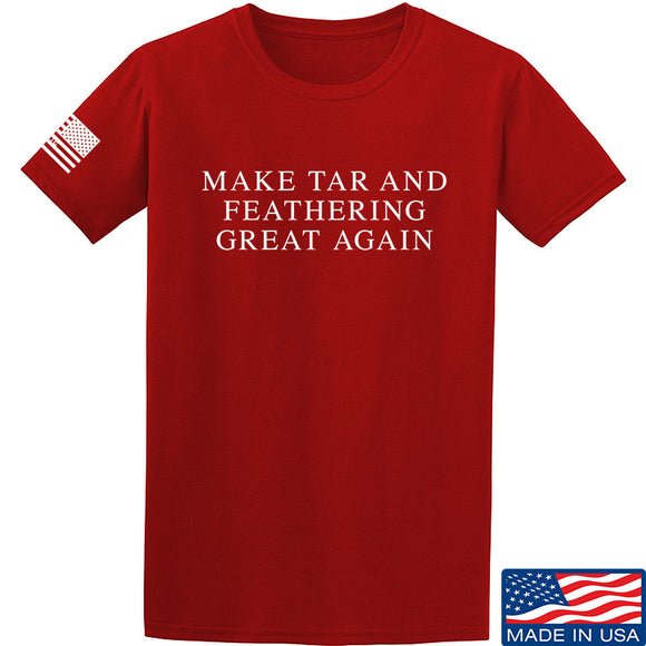 MAC Make Tar and Feathering Great Again T-Shirt T-Shirts Small / Red by Ballistic Ink - Made in America USA